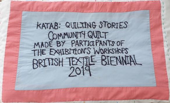Community Quilt Label